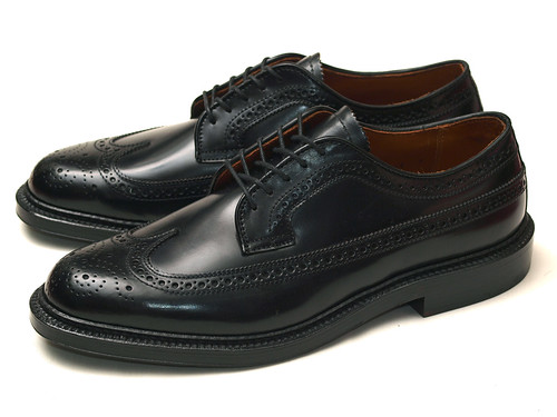 Alden / 9751 Black Shell Cordovan Long Wing Blucher