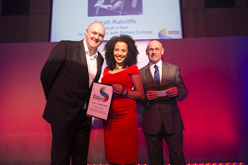 Sarah Ratcliffe at Skills for Business Awards 2014
