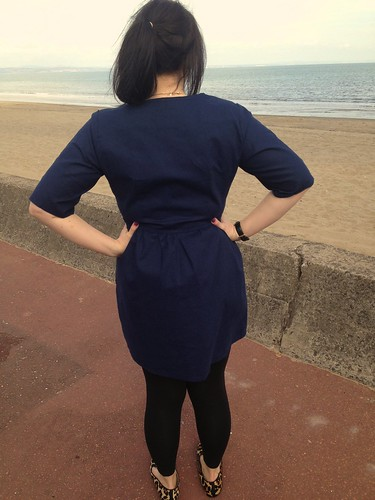 Navy Sureau Dress