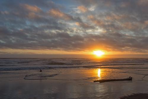 ocean sunset summer beach twilight wideangle pacificocean longbeachwashington