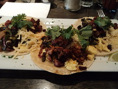Breakfast Tacos w Chorizo at Easy Restaurant