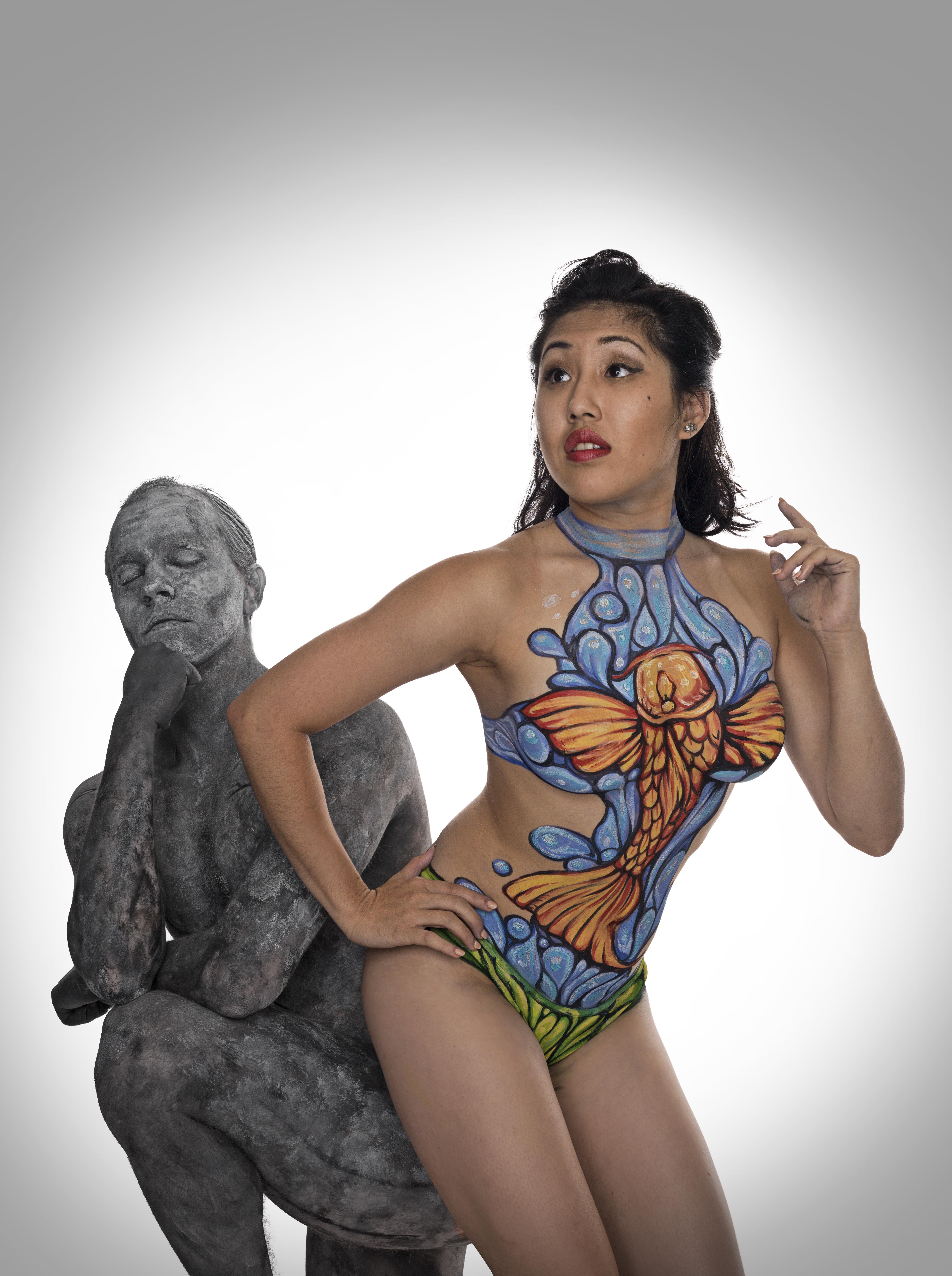 bodypaint swimsuit