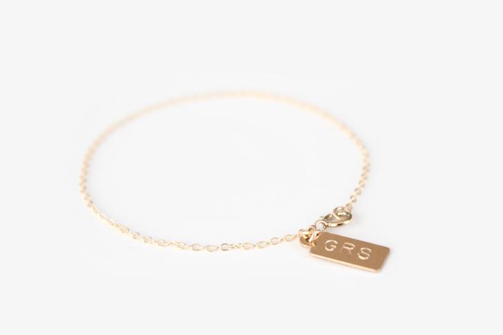Gold Tag Bracelet