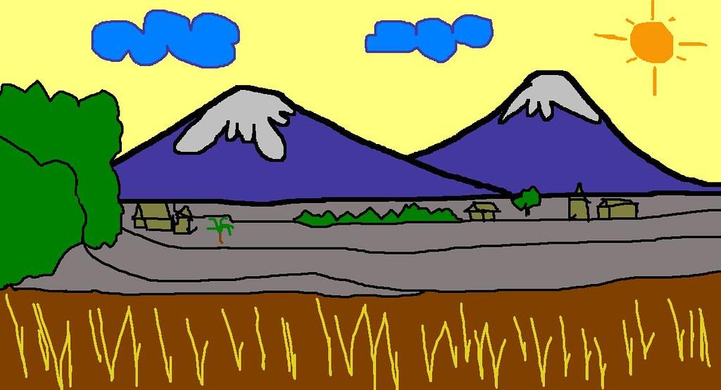 Pemandangan 2btk Gambar Pemandangan Kartun Zean Aditiya Flickr