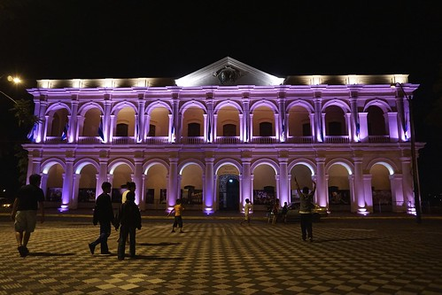 city night view vista asuncion paraguay palacio legislativo
