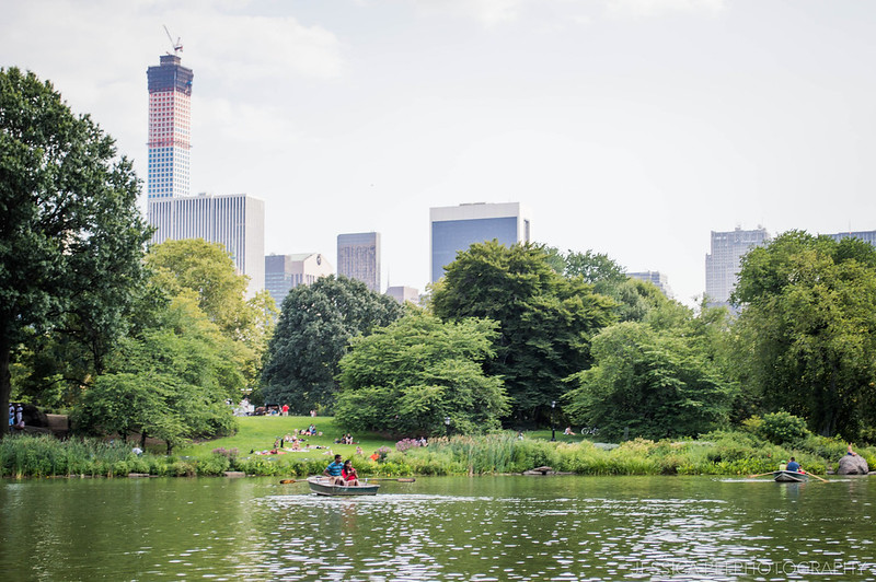 new york city central park canoeing