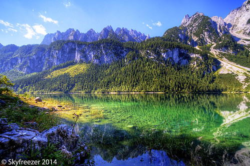 vacation lake mountains alps nature beautiful reflections landscape austria oostenrijk österreich amazing hiking sunny stunning mountainlake gosau austrianalps vorderergosausee skyfreezer