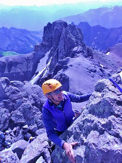 Helen Enjoying the Climb on Teakettle