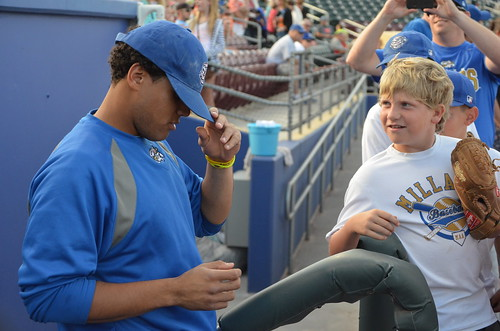 Francisco Pena tried to swap hats with this kid.