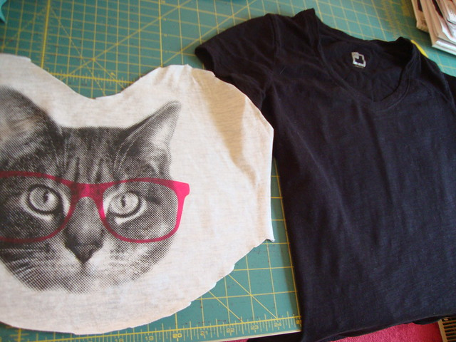 Cat shirt refashion