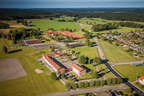 sverige jönköping skola swe flygfoto forsheda