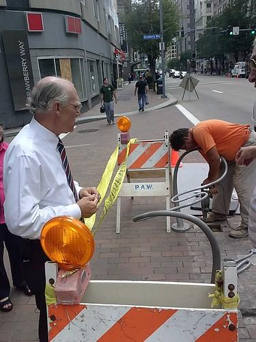 Downtown Pittsburgh Cultural Trust bike racks