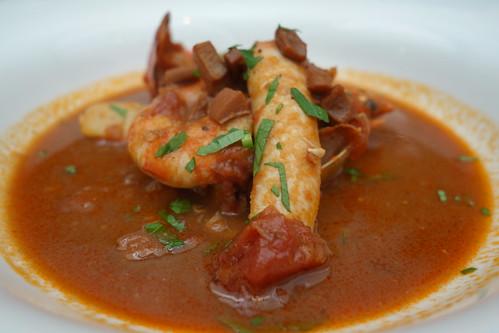 'Cacciucco' Traditional Tuscan Seafood Stew with Garlic Bruschetta - Burlamacco Ristorante