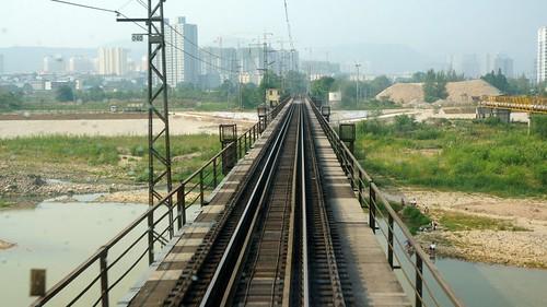 渭河铁路桥。