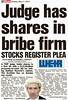Judge has shares in bribe firm - Scottish Sun 11 May 2014