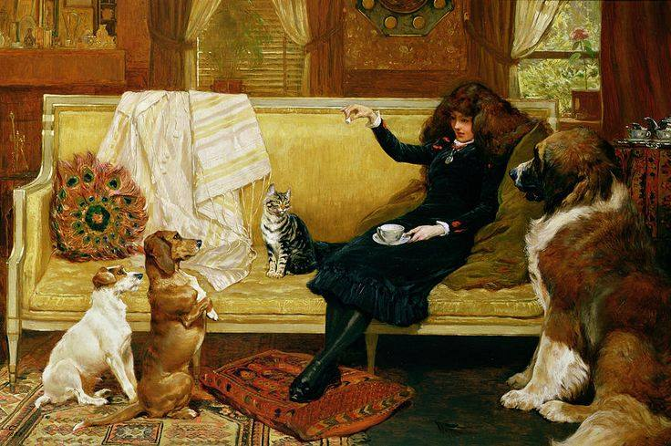 Teatime Treat by John Charlton, 1883