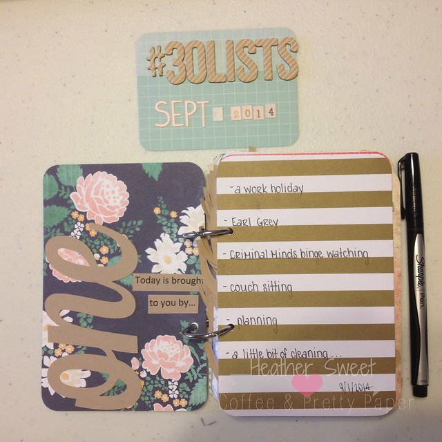 #30lists -List One: Coffee & Pretty Paper