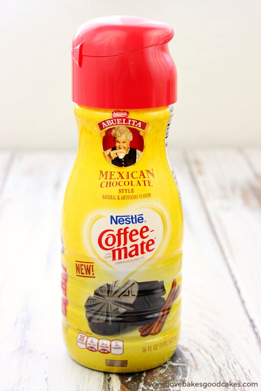 Nestle Coffee Mate Mexican Chocolate creamer in a bottle.