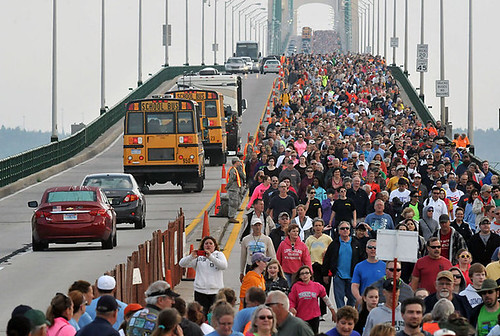 Mackinac Bridge walk, September 1, 2014
