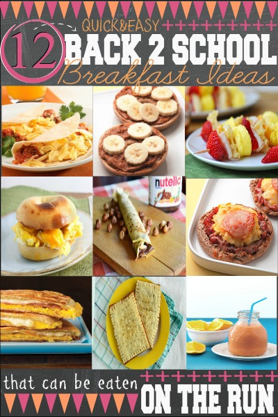 12 Back to School Breakfast Ideas