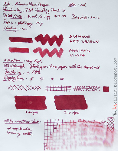 Diamine Red Dragon on photocopy