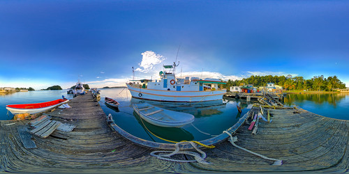 The floating dock across from Mosquito island in Lami - virtual reality view in description
