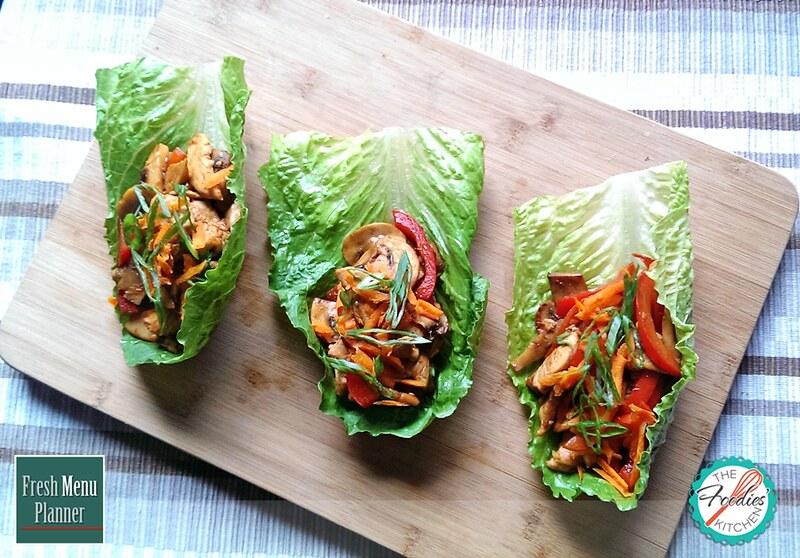 Sesame Thai Chicken Lettuce Wraps