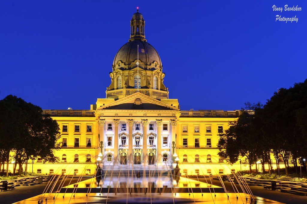 The Alberta Legislature Building in the blue hour