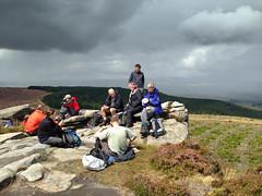 Lunch stop on the Simonside Hills Northumberland