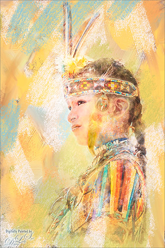 Image of a Young Warrior from the Native American Festival