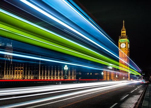 Lighttrails Big Ben