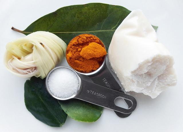 Ingrediënten voor Nasi Kuning