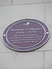 Photo of Nicholas Culpeper red plaque
