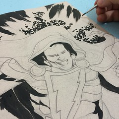 Shazam: inks #dccomics #comics