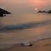 El amanecer en  la playa