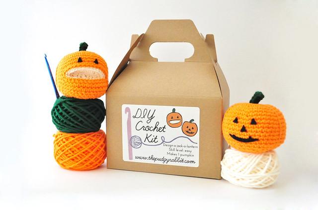 jack o lantern crochet kit