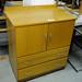 Oak veneer chest