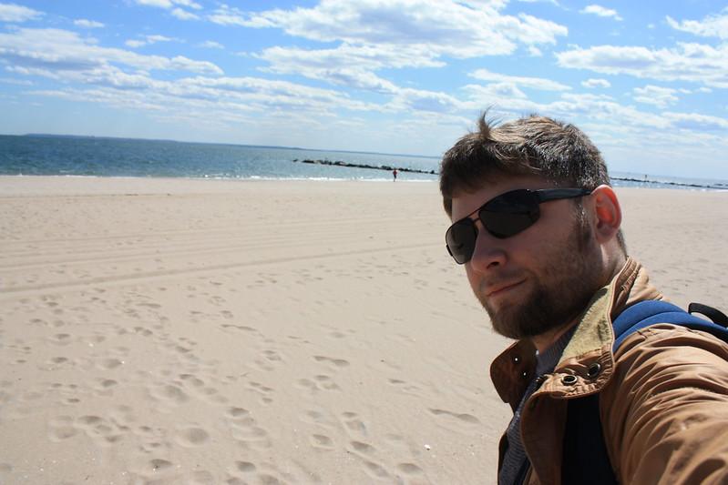 Пляж Брайтон в мае