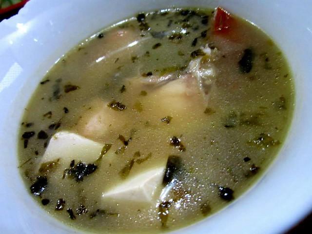 Ming Mei Shi chao chai tapah soup
