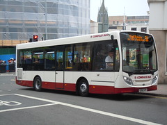 trolleybus(0.0), optare solo(0.0), dennis dart(0.0), metropolitan area(1.0), vehicle(1.0), transport(1.0), mode of transport(1.0), public transport(1.0), tour bus service(1.0), land vehicle(1.0), bus(1.0),