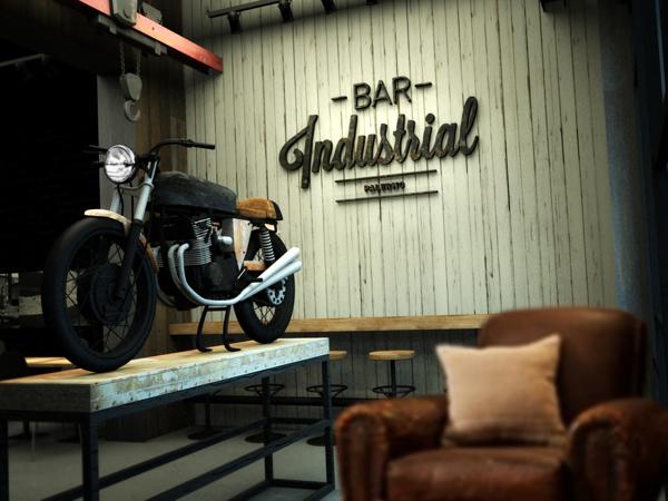 Identidad visual de Bar Industrial, por Nacho Varone