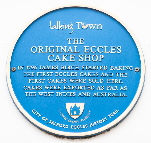 Photo of Original Eccles Cake Shop and James Birch blue plaque