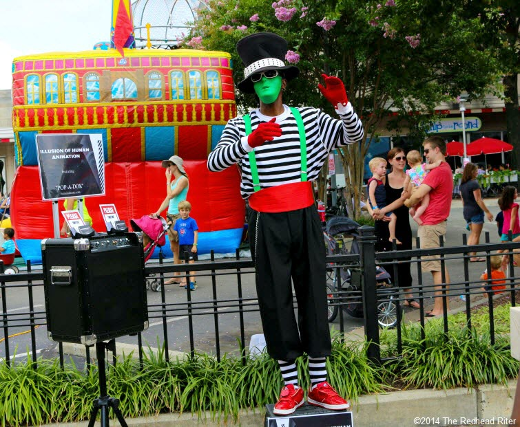 31st Annual Carytown Watermelon Festival,  Richmond, Virginia - mime