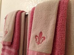 art, textile, linens, pink, towel,