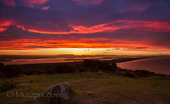 muzzpix-nz posted a photo:	Facebook    | 500px  | WebsiteThe sunset of the Mount was just a brilliant red and blue … so cool .