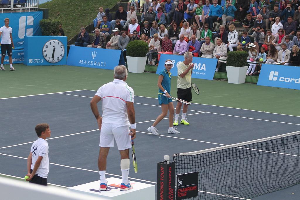 Bahrami Seles and McEnroe