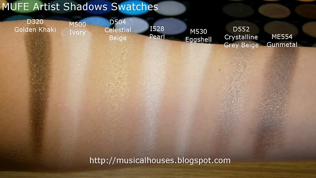 MUFE Artist Shadow Eyeshadow Swatches 1 Row 8