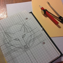 Initial fox sketch