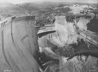 Mahinerangi Dam Construction 1946