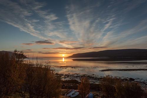 sea sky sun sunshine norway clouds sunrise canon norge nationalgeographic finnmark olderfjord einarschioth